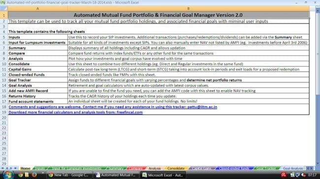 Mutual Fund Portfolio Tracker