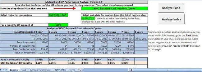 Mutual Fund SIP Returns Analyzer