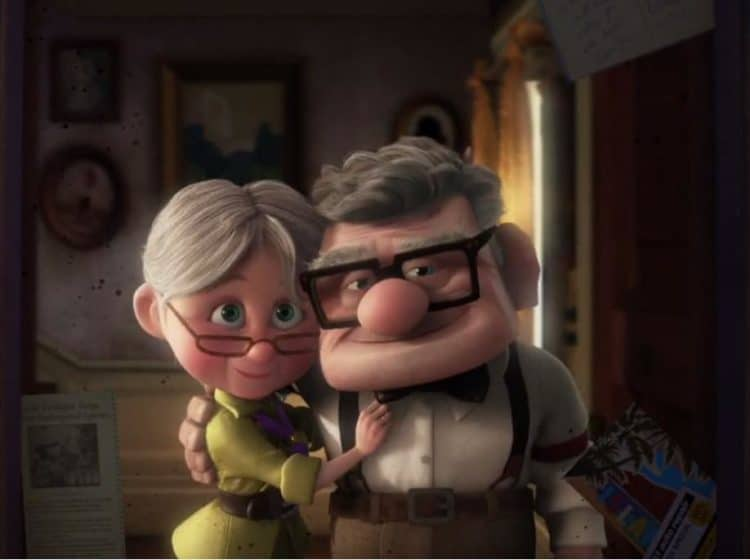 Carl and Ellie from the movie, 'UP' (2009).  Pixar Animation Studios