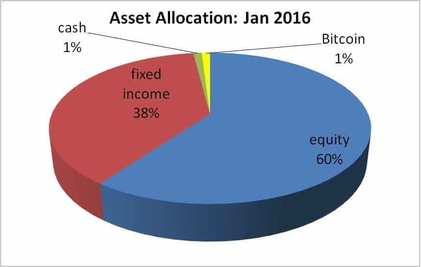 Bitcoin assets pie chary