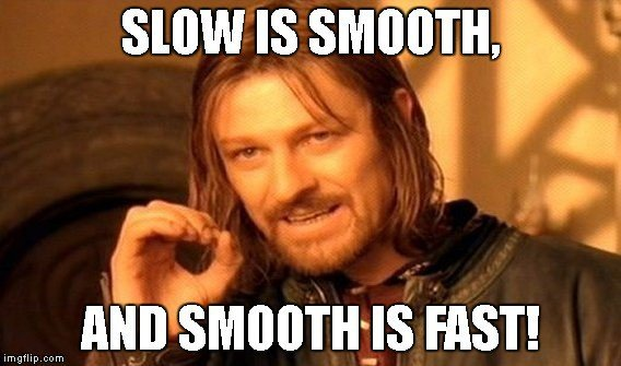 Slow is smooth and smooth is fast is applicable to How to close your loans and live debt-free