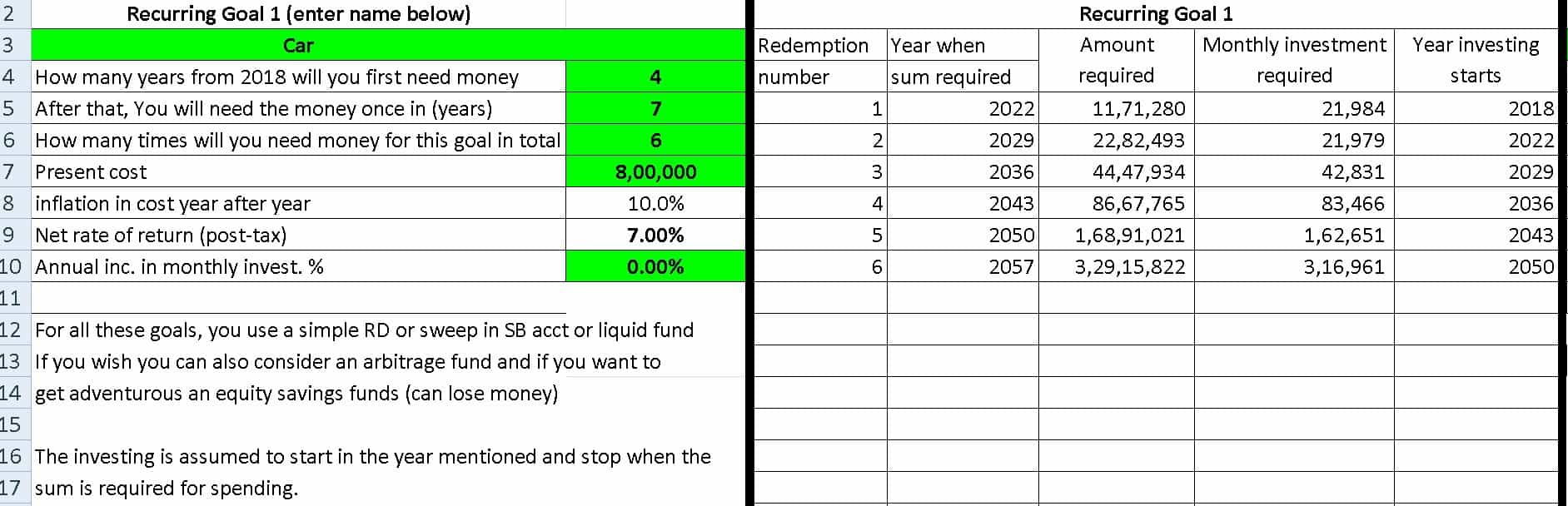 investment planning example 4
