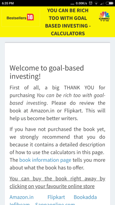 Financial goal planning calculators on google play