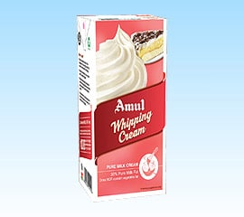 Amul whipping cream for low carb high fat breakfast