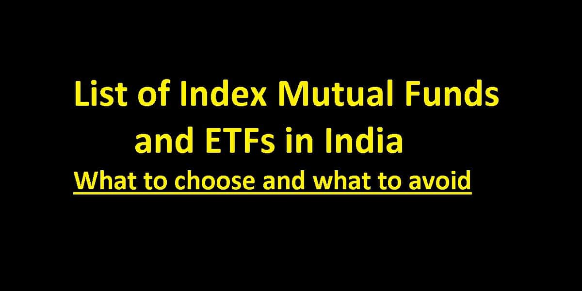 List of Index Mutual Funds and ETFs in India