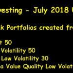 Lazy Investing: Five Test Stock Portfolios -July 2018 Update