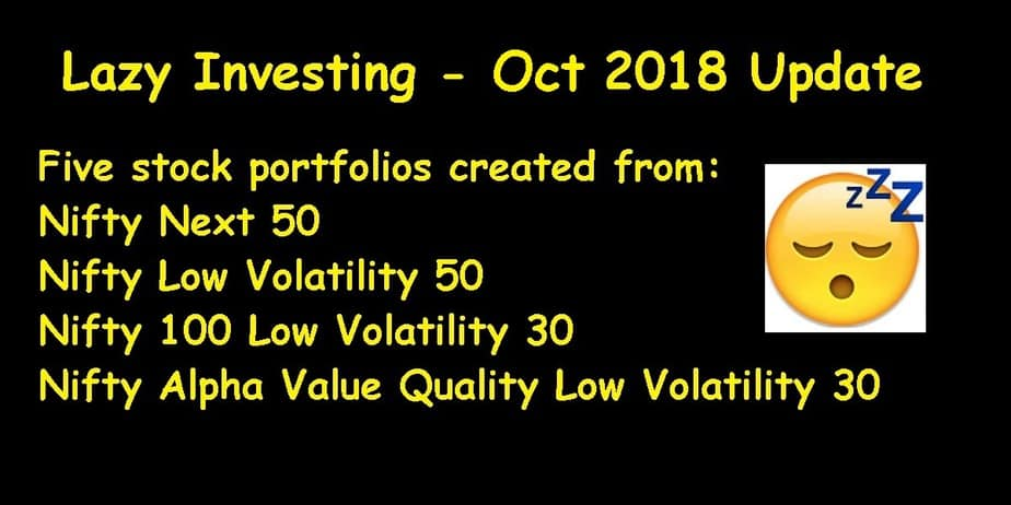 Lazy Investing: Stock Test Portfolio October 2018