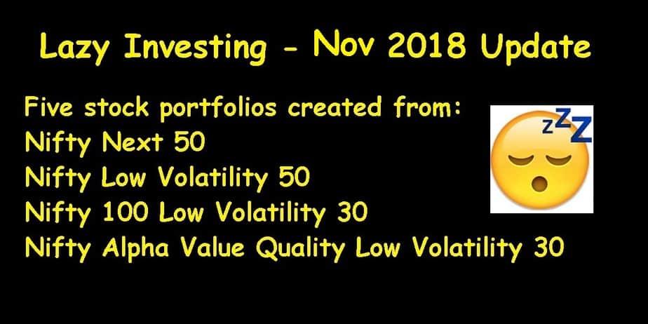 Stock Portfolio Update November 2018 (Lazy Investing)