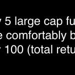Only Five Large Cap funds have comfortably beat Nifty 100!