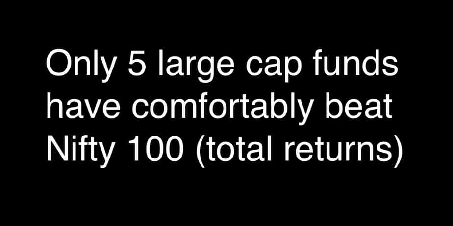 Five Large Cap funds that have comfortably beat Nifty 100