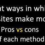 Eight ways in which websites make money
