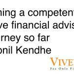 Becoming a competent & effective financial advisor: My journey so far