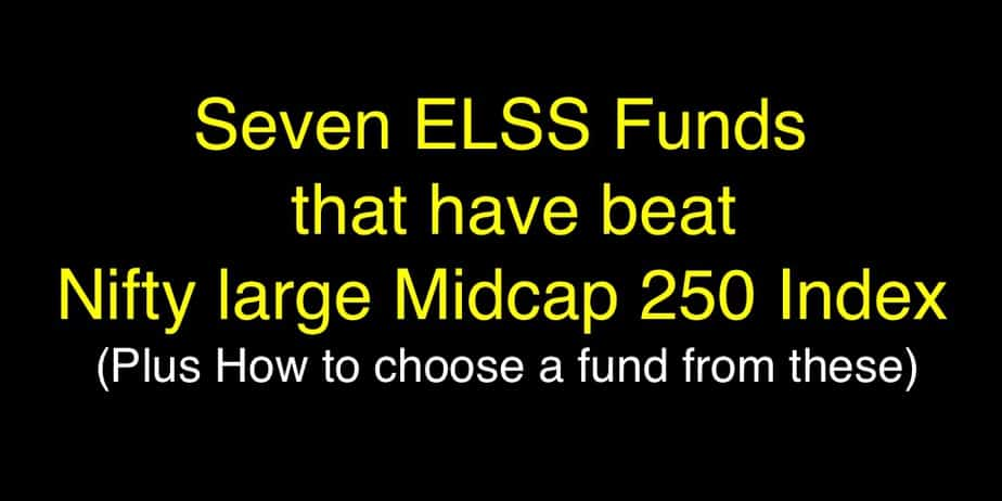 Seven Best ELSS mutual funds for tax saving (80C) in 2019
