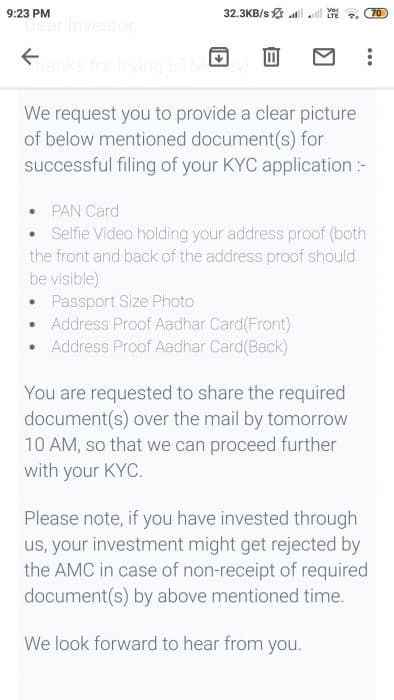 KYC Corrections screen in ETmoney (1)