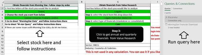 Downloading Financials From MorningStar