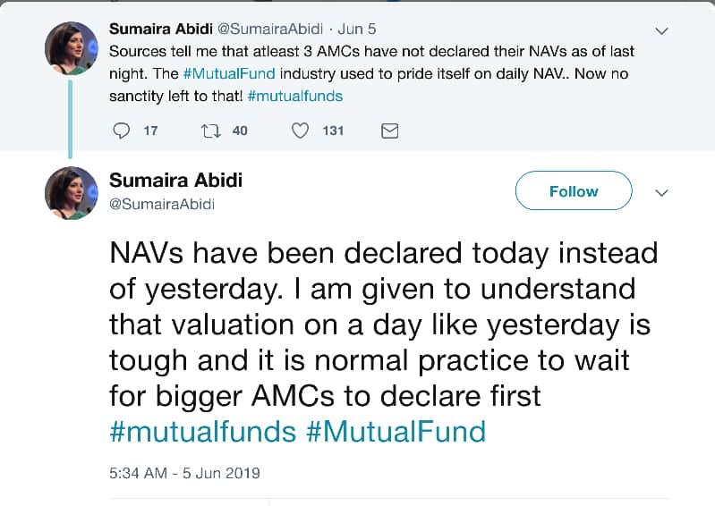 non-declaration of NAV