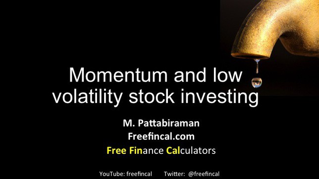 momentum and low volatility stock investing in India slide 1