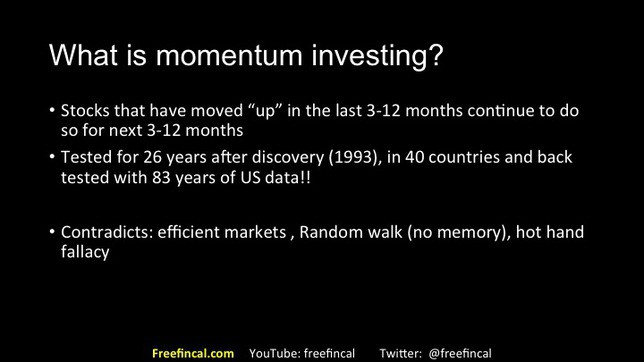 momentum and low volatility stock investing in India slide 10