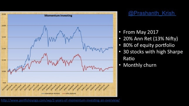 momentum and low volatility stock investing in India slide 28