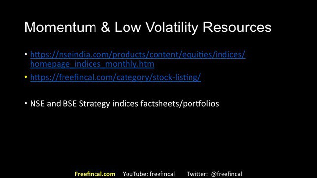 momentum and low volatility stock investing in India slide 29