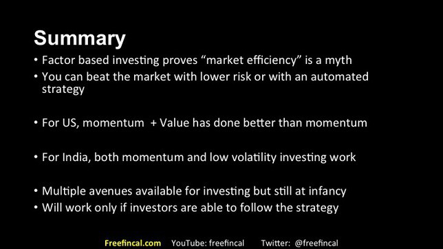 momentum and low volatility stock investing in India slide 35