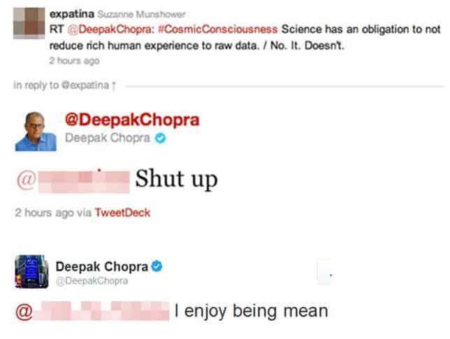 DeepakChopra Tweet Screenshot