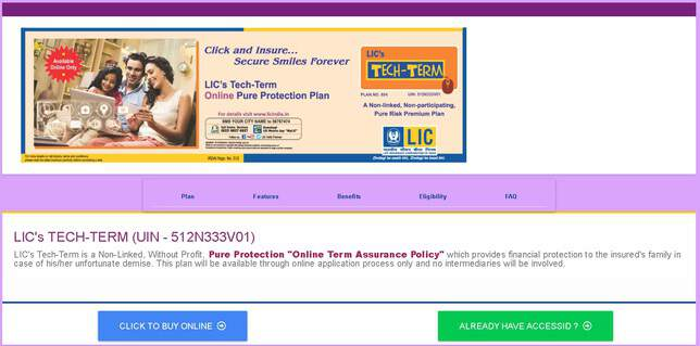 LICs Tech Term How to buy online step two click to buy online
