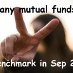 How many equity mutual funds beat the benchmark in September 2019?
