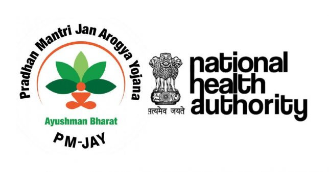 Ayushman Bharat Yojana logo. The associated article talks about features of the scheme and eligibility details